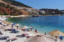 Kalkan's attractive town beach